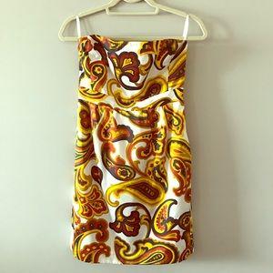 Banana Republic Strapless Bold Print Dress